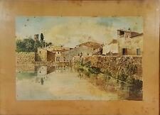 E3-006. LAVANDERAS. AQUARELLE. AUTEUR: RAMON AMADO BERNADET (1844-1888).