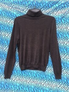 Brooks Brothers Turtleneck Sweater Brown Size M Silk Wool Cashmere