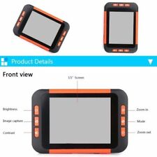 """3.5"""" Color Electronic Pocket Reading Digital Aid 2-32X Magnifier for Low Vision"""