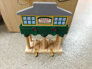 Thomas Train Wooden Sodor Signal House # 3 Stop Go Light & Sounds Works Tracks