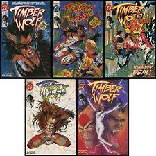 Timber Wolf Comic Set 1-2-3-4-5 Legion of Super-Heroes Werewolf vs The Creeper
