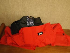 PAIR OF GILL BREATHABLE RED SAILING BIBBS SIZE SMALL