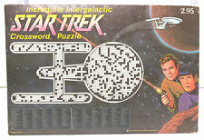 1975 Incredible Intergalactic Star Trek Crossword Puzzle Book w Envelope (E1130)