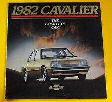 1982 CHEVROLET CAVALIER SALES SHOWROOM BROCHURE...24 PAGES