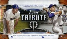 2018 Topps Tribute Baseball Hobby Box - 6 Hits Per Box - Free Shipping!