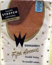 "Vintage-New Stockings Seamless Mesh Stretch Size Small ""Cinnamon"" RHT Nylons NIP"