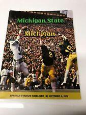 1977 Michigan State- Michigan Football Program
