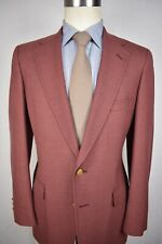 Austin Reed Solid Light Red Worsted Wool Two Button Sport Coat Size: 38R