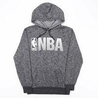 NBA USA Basketball Big Logo Grey Sports Hoodie Sweatshirt Men's Size Small