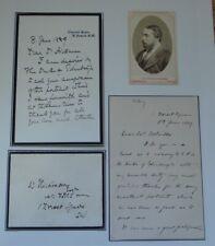 More details for colonel colville and dr hickman letters re duke of edinburgh illness cdv 1889