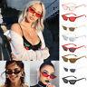 Small Cat Eye Fashion Women Sunglasses Flat Top Retro Vintage Shades Eyewear