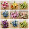 Home Wedding Garden Decor Calla Lilies Lilly Artificial Fake Silk Flower Bridal