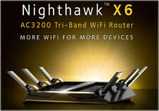 NETGEAR R8000 AC3200 Nighthawk X6 Tri-Band WiFi Router Wireless Gigabit 3.2Gbps