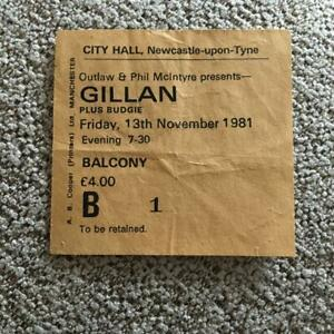 Gillan / Budgie ticket Newcastle City Hall 13-11-81 #B1