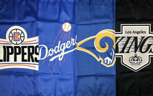 Los Angeles Clippers Dodgers Rams Kings Flag 3x5 ft Sports Banner Man-Cave