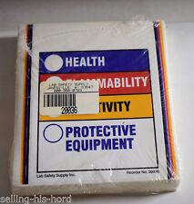 Right to Know Label, 5-7/8h x 4, OSHA Hazard Communication Standards HMIG 1 pkg