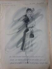 1945 Lord Taylor Nettie Rosensteins Fold Skirt Wool Jersey Original Ad