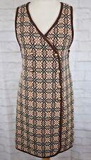 Vintage Talgarth House Wales Brown Welsh Woollens Tapestry Dress Size Fits 10/12