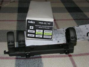 Sako TRG-22/42 Tactical Scope Mount 3 (Three) Ring 30mm Medium S151F917 30MOA