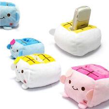Kawaii cartoon Tofu Plush protéger Bloc Siège Support Mobile téléphone portable titulaire nouveau \