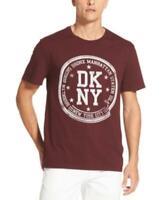 Dkny Men's  Crew Neck Borough Stamp Logo Graphic T-Shirt (Purple, XL)