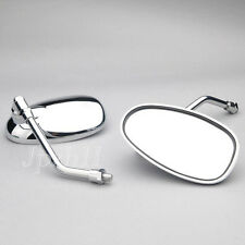 Universal Motorcycle Mirrors For Shadow VTX Honda Suzuki Kawasaki 10mm Chrome #Y