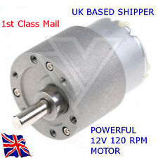 12v Reversible-motor de corriente continua 120 Rpm - 37mm alto esfuerzo De Torsión Gear Box-disponible en Reino Unido
