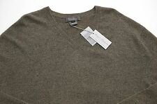 Men's DANIEL CREMIEUX Tan Brown V-Neck CASHMERE Sweater XL Extra Large NWT NEW