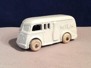 Vintage Diecast Metal Toy Milk Truck w/ Rubber Wheels & Milk Bottle, Made in USA