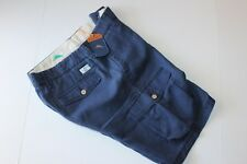 Tommy Bahama Shorts Linen The Dream Cargo Maritime Blue T815830 New 32 Waist