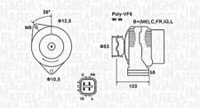 Alternator For HONDA Civic VII VIII Fr-V AHGA50 MAGNETI MARELLI
