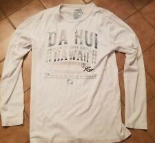 Da Hui Hawaii Thermal T-Shirt L Men's L/S White Surf Surfer Since 1975 Aloha