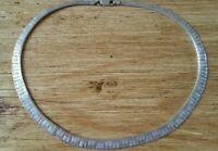 Vintage Modernist Italian Designer  Sterling Silver Collar Necklace