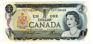 CANADA Billet 1 DOLLAR 1973 OTTAWA P85 QUEEN / REINE ELIZABETH 2 QEII NEUF UNC