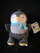 doudou peluches MOTS D 'ENFANTS pingouin bleu étoiles gris blanc  neuf