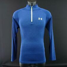 Mens Under Armour Heatgear Running Blue Pullover Track Shirt Size Small S Gym