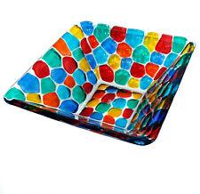 Murano Glass Bowl Multi Coloured Hand Made Hand Painted Millefiori