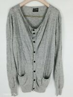All saints Spitalfields Men's Grey Light Weight Cardigan Sweater Size S M