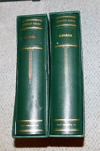 2 Canada Scott Specialty Albums with sleeves & 100's of stamps
