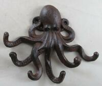 Nautical Cast Iron Octopus Wall Decor Key Hook Paperweight Novelty Gifts Sea