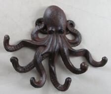 Nautical Cast Iron Octopus Wall Decor Key Hook Paperweight Novelty Gifts Sea