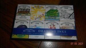 WINDSOR & NEWTON 8 PACK OF DRAWING INK NEW UNUSED
