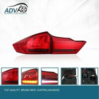 Pair LED Red Smoke Tail Lamp lights light Fit Honda City GM6 BALLADE 14-2017