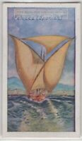 Felucca Wood Sailing Ship  85+ Y/O Trade Ad Card