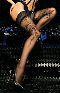 Ballerina 442 Hold Ups Thigh-Highs Black European Hosiery Luxury
