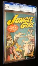 JUNGLE GIRL #1 (Fawcett 1942) -- Nyoka -- CGC 3.0