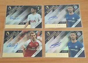 Lot of 4 - 2017-18 Topps Premier League Gold - Autograph Issue - Holding, Davies