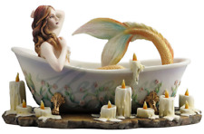 Bathtime Mermaid Sculpture Statue Figurine By Selina Fenech - GIFT BOXED