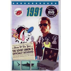 30th Pearl Wedding Anniversary gift ~ Reminisce 1991 with DVD and Greeting Card