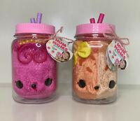 Lot of 2 Num Noms Surprise in a Jar, Orange Freezie, Queen Razz Bear, Soft Plush